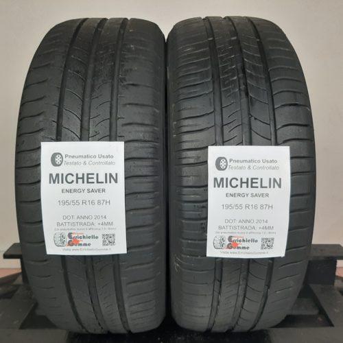 195/55 R16 87H Michelin Energy Saver – 50% +4mm – Gomme Estive