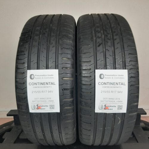 215/55 R17 94V Continental ContiEcoContact 5 – 60% +5mm – Gomme Estive