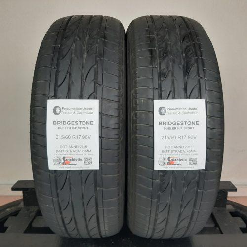 215/60 R17 96V Bridgestone Dueler H/P Sport – 60% +5mm – Gomme Estive
