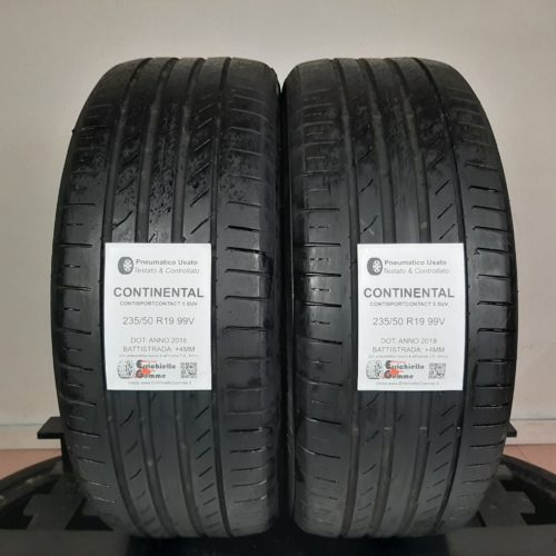 235/50 R19 99V Continental ContiSportContact 5 SUV – 50% +4mm – Gomme Estive