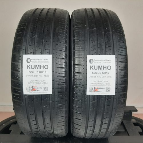 225/55 R19 99H M+S Kumho Solus KH16 – 60% +5mm – Gomme 4 Stagioni
