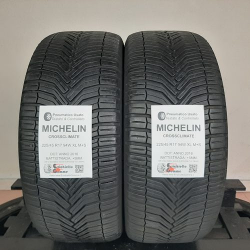 225/45 R17 94W XL M+S Michelin CrossClimate – 60% +5mm – Gomme 4 Stagioni