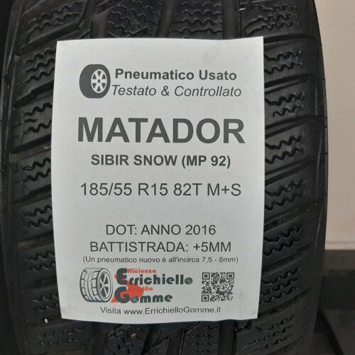 185/55 R15 82T M+S Matador Sibir Snow (MP 92) – 60% +5mm – Gomme Invernali