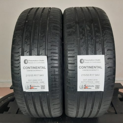 215/55 R17 94V Continental ContiEcoContact 5 –  50% +4mm – Gomme Estive