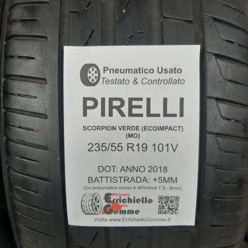 235/55 R19 101V Pirelli Scorpion Verde (EcoImpact) (MO) – 60% +5mm – Gomme Estive