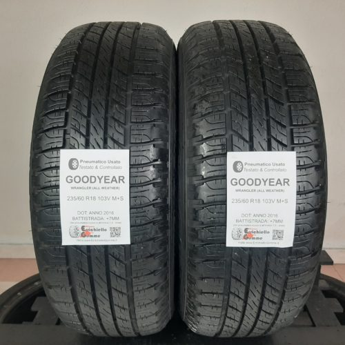 235/60 R18 103V M+S Goodyear Wrangler (All Weather) – 90% +7mm – Gomme 4 Stagioni