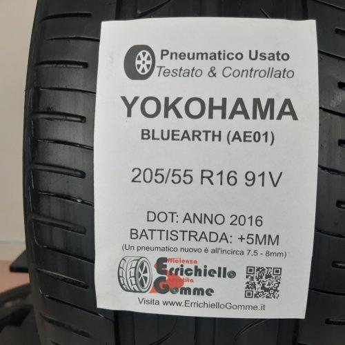 205/55 R16 91V Yokohama Bluearth (AE01) – 60% +5mm – Gomme Estive