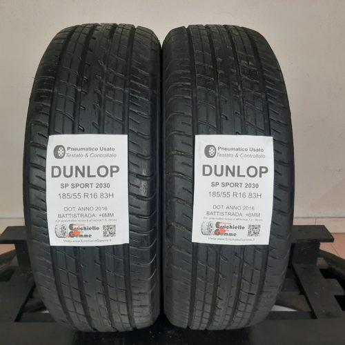 185/55 R16 83H Dunlop SP Sport 2030 – 70% +6mm – Gomme Estive