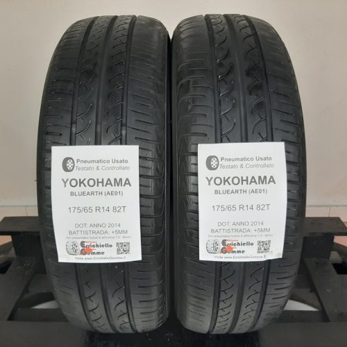 175/65 R14 82T Yokohama Bluearth AE01 –  60% +5mm – Gomme Estive