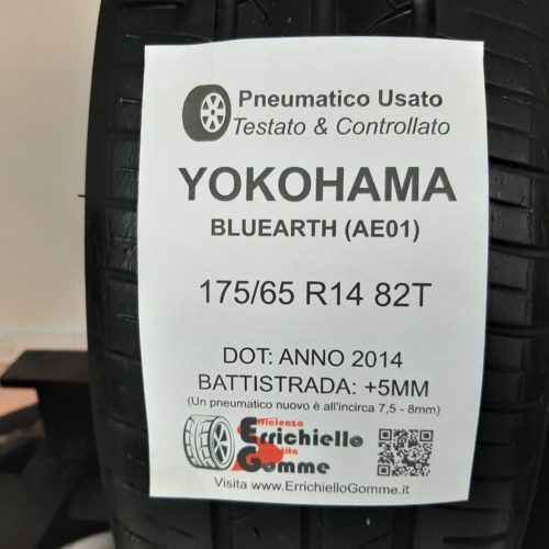 175/65 R14 82T Yokohama Bluearth AE01 –  60% +5mm – Gomme Estive