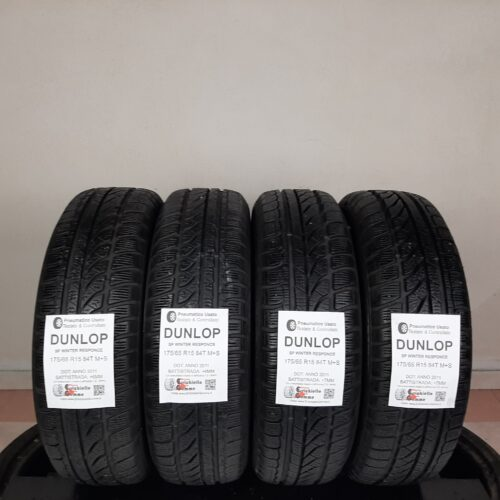 175/65 R15 84T M+S Dunlop SP Winter Response –  70/90% +6/7mm – Gomme Invernali