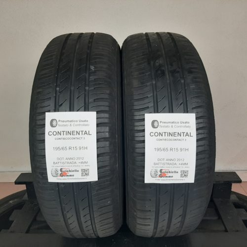 195/65 R15 91H Continental ContiEcoContact 3 –  50% +4mm Gomme Estive