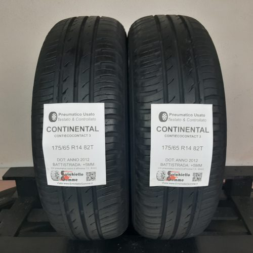 175/65 R14 82T Continental ContiEcoContact 3 –  60% +5mm Gomme Estive