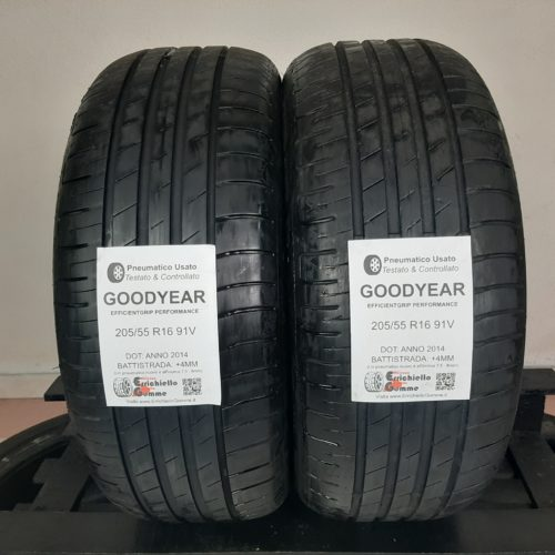 205/55 R16 91V Goodyear EfficientGrip Performance –  50% +4mm Gomme Estive