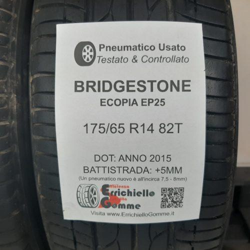 175/65 R14 82T Bridgestone Ecopia EP25 –  60% +5mm – Gomme Estive