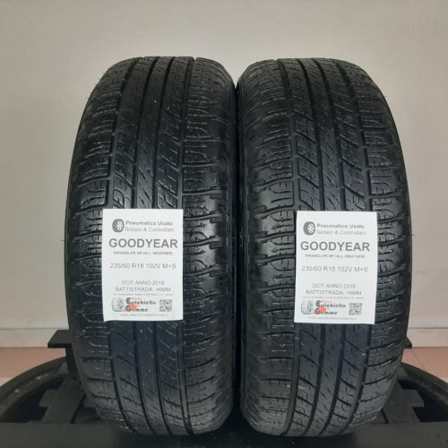 235/60 R18 102V M+S Goodyear Wrangler HP (All Weather) – 70% +6mm – Gomme 4 Stagioni