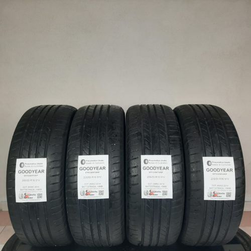 205/55 R16 91V Goodyear EfficientGrip –  50/60% +4/5mm – Gomme Estive