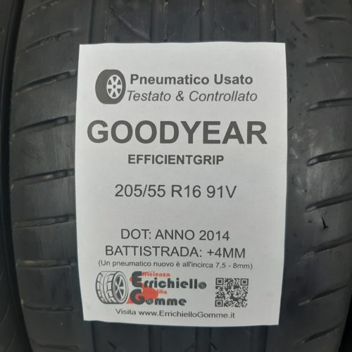 205/55 R16 91V Goodyear EfficientGrip –  50/60% +4/5mm – Gomme Estive
