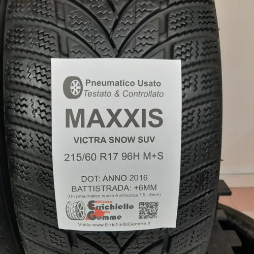 215/60 R17 96H M+S Maxxis Victra Snow SUV –  70% +6mm – Gomme Invernali