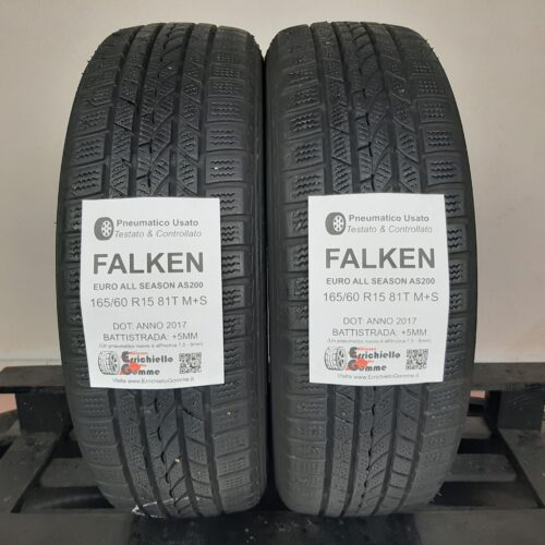 165/60 R15 81T M+S Falken Euro All Season AS200 –  60% +5mm – Gomme 4 Stagioni