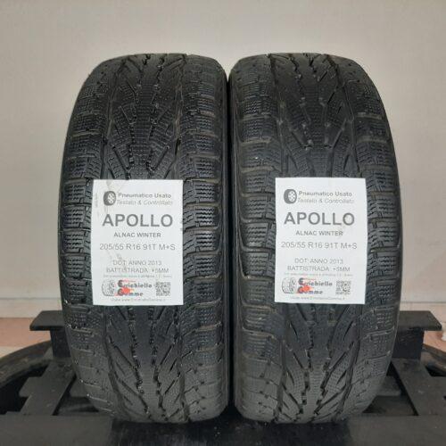 205/55 R16 91T M+S Apollo Alnac Winter –  60% +5mm – Gomme Invernali