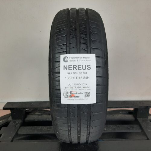 185/60 R15 84H Nereus Sailfish NS 601 – 70% +6mm – Gomma Estiva