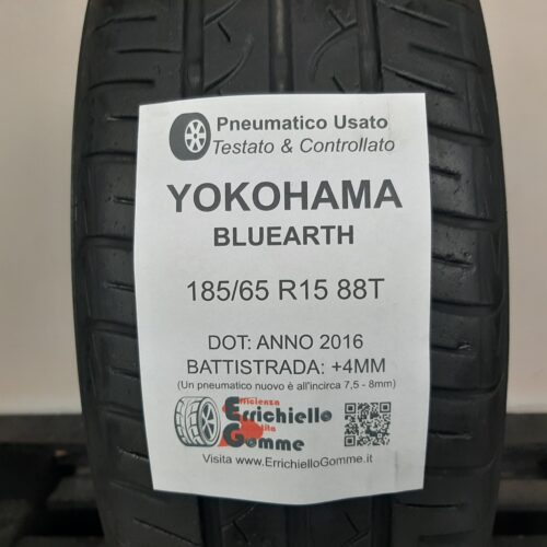 185/65 R15 88T Yokohama Bluearth – 50% +4mm – Gomma Estiva
