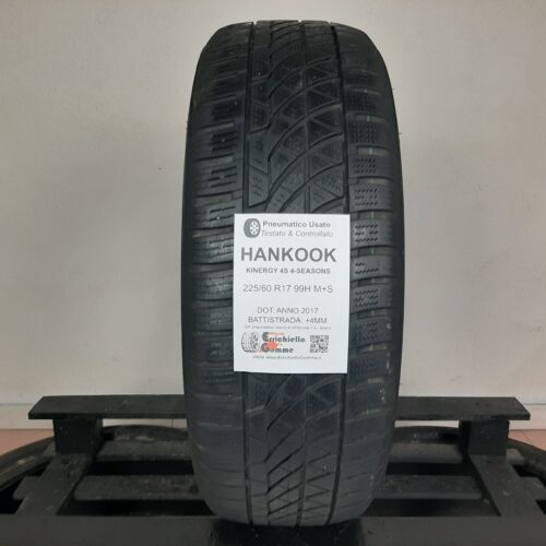 225/60 R17 99H M+S Hankook Kinergy 4S 4-Seasons – 50% +4mm – Gomma 4 Stagioni