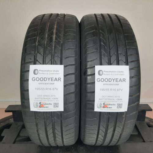 195/55 R16 87V Goodyear EfficientGrip – 60% +5mm – Gomme Estive