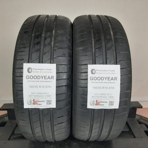 195/55 R16 87H Goodyear EfficientGrip Performance – 60% +5mm – Gomme Estive