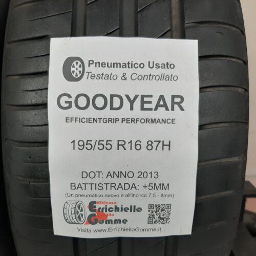 195/55 R16 87H Goodyear EfficientGrip Performance – 60% +5mm – Gomme Estive