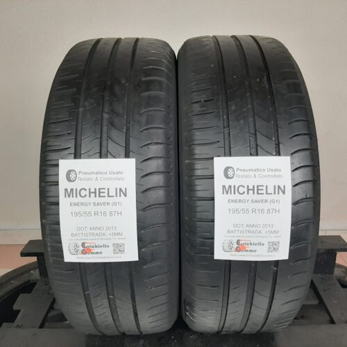 195/55 R16 87H Michelin Energy Saver (G1) – 60% +5mm – Gomme Estive