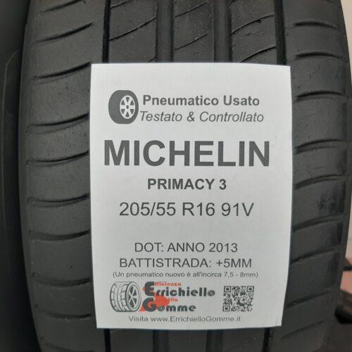 205/55 R16 91V Michelin Primacy 3 – 60% +5mm – Gomme Estive