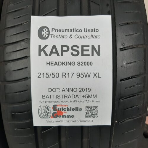 215/50 R17 95W XL Kapsen HeadKing S2000 –  60% +5mm – Gomme Estive