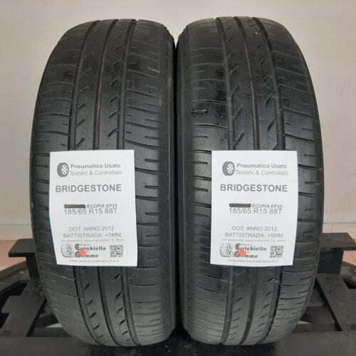 185/65 R15 88T Bridgestone Ecopia EP25 – 60% +5mm – Gomme Estive