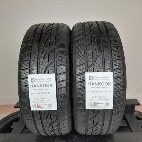 215/55 R16 97V M+S Hankook Winter I-Cept Evo – 60% +5mm – Gomme Invernali