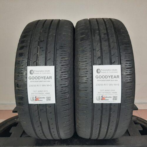 235/55 R17 99V M+S Goodyear EfficientGrip SUV 4×4 – 70% +6mm Gomme 4 Stagioni