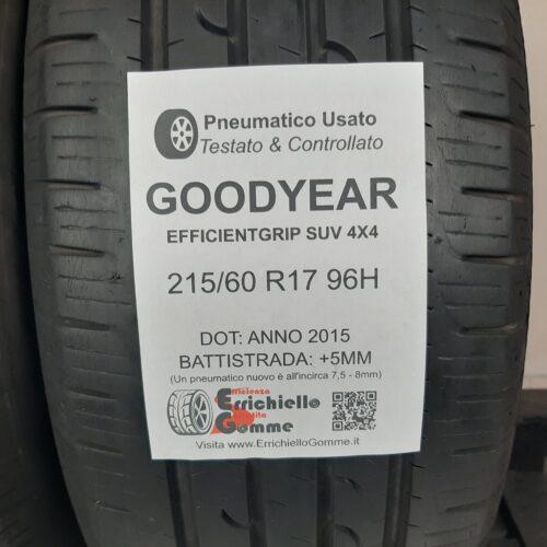 215/60 R17 96H Goodyear EfficientGrip SUV 4×4 – 60% +5mm – Gomme Estive