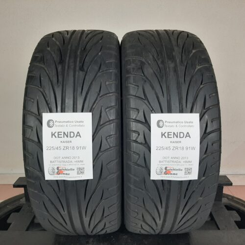 225/45 ZR18 91W Kenda Kaiser – 70% +6mm – Gomme Estive