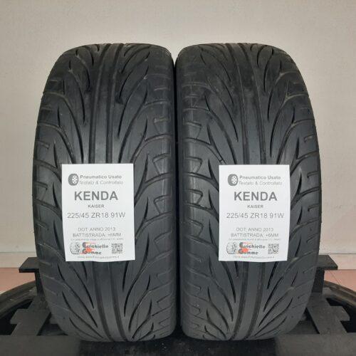 225/45 ZR18 91W Kenda Kaiser – 70% +6mm – Gomme Estive