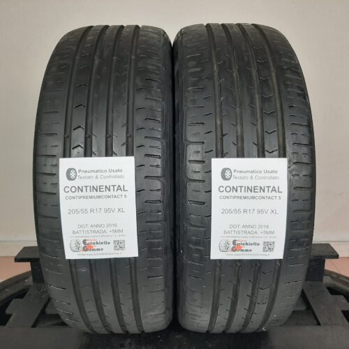205/55 R17 95V XL Continental ContiPremiumContact 5 – 60% +5mm – Gomme Estive