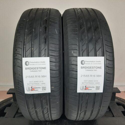 215/65 R16 98H Bridgestone Turanza T001 – 50% +4mm – Gomme Estive
