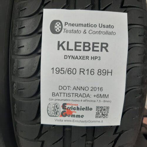 195/60 R16 89H Kleber Dynaxer HP3 – 70% +6mm – Gomme Estive