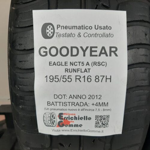 195/55 R16 87H Goodyear Eagle NCT5 A (RSC) Runflat – 50% +4mm – Gomme Estive