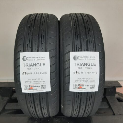 165/60 R14 75H M+S Triangle TEM 11 (TE 301) – 70% +6mm – Gomme 4 Stagioni