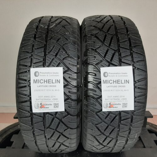 235/55 R17 101H XL M+S Michelin Latitude Cross –  60% +5mm – Gomme 4 Stagioni