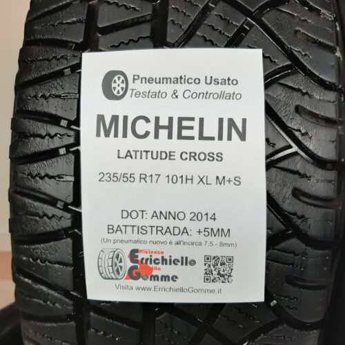 225/55 R17 101H XL M+S Michelin Latitude Cross –  60% +5mm – Gomme 4 Stagioni