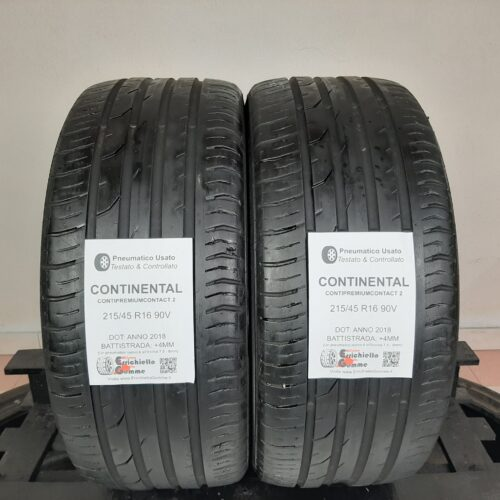 215/45 R16 90V Continental ContiPremiumContact 2 – 50% +4mm – Gomme Estive