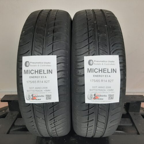 175/65 R14 82T Michelin Energy E3A – 60% +5mm – Gomme Estive