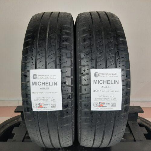 205/75 R16C 110/108P 8PR Michelin Agilis –  60% +5mm Gomme Estive Trasporto